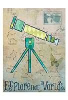 Vintage Space 3 Framed Print