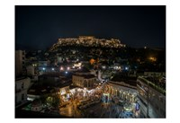 Greece Athens Acropolis Night 1 Fine Art Print