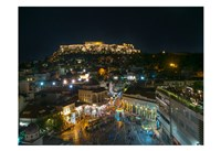 Greece Athens Acropolis Night 2 Fine Art Print