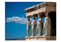Greece Athens Acropolis Statues Fine Art Print