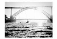 Portugal Porto BW Bridge Fine Art Print