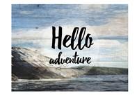 Hello Adventure Framed Print