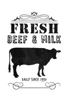 Fresh Beef And Milk Framed Print