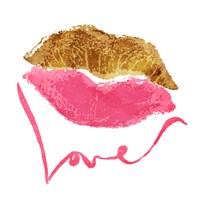 Love Lips White Fine Art Print