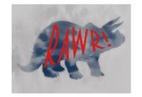Dino Rawr Fine Art Print