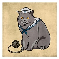 Sailor Cat Fine Art Print