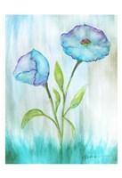 Floral Blue 1 Fine Art Print