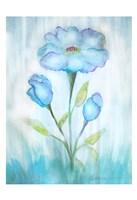 Floral Blue 2 Fine Art Print