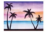 Tropical Palms 2 Fine Art Print
