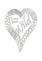 Heart Love Your Wild 2 Fine Art Print