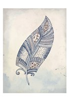 Feather Henna 2 Fine Art Print