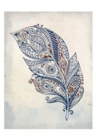 Feather Henna 1 Fine Art Print