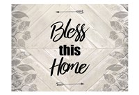 Bless This Home Quote Fine Art Print