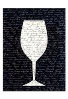 Wine on Black 1 Fine Art Print
