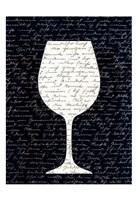 Wine on Black 3 Fine Art Print