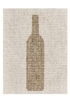 Linen Wine 2 Fine Art Print