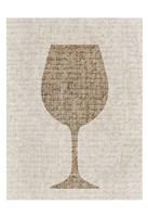 Linen Wine 3 Fine Art Print