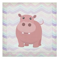 Pink Hippo Time Fine Art Print