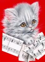 Music Cat - 12A Fine Art Print