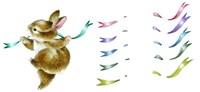 Spring Fling - Dancing Bunny Fine Art Print