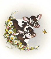 Brown Cows Fine Art Print