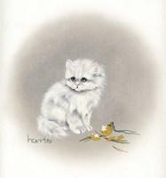 White Kitty (Ornament) Fine Art Print