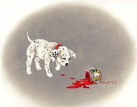 Dalmation 6- Caught Red Pawed Fine Art Print