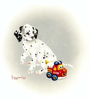 Dalmation 1 - Puppy Truck Fine Art Print