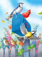 Birds And Mailbox Fine Art Print