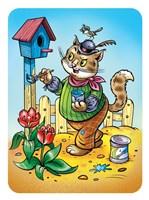 Cat A House Painter Fine Art Print