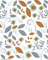 Fall Floral Pattern Fine Art Print