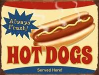 Always Fresh Hot Dogs Fine Art Print