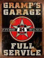 Gramps Garage Rusted Vertical Fine Art Print