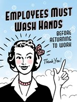 Employees Wash Hands Fine Art Print