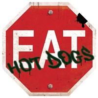 Eat Stop Hot Dogs Framed Print