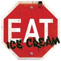 Eat Stop Ice Cream Framed Print