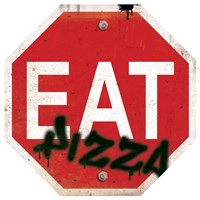 Eat Stop Pizza Fine Art Print