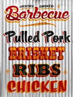 Barbeque Hickory Smoked Corregate Metal Fine Art Print