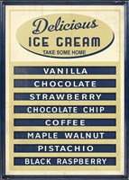 Ice Cream Board -Navy Cream Fine Art Print