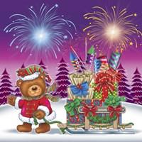 Christmas Fireworks 2 Fine Art Print