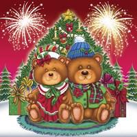 Christmas Fireworks 3 Fine Art Print