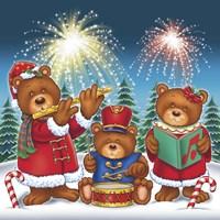 Christmas Fireworks Fine Art Print