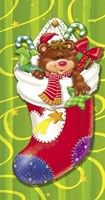 Christmas Stockings And Bears 6 Fine Art Print