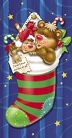 Christmas Stockings And Bears 7 Fine Art Print