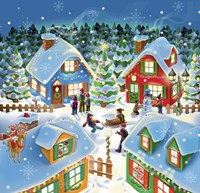 Christmas With Neighbors Fine Art Print