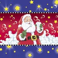 Santa Bubbles Fine Art Print