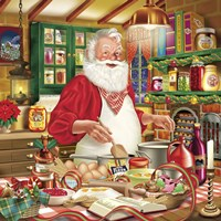 Santa Cooking 26 Fine Art Print