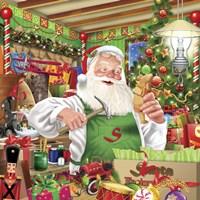 Santa Factory 1 Fine Art Print
