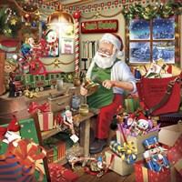 Santa Factory 2 Fine Art Print
