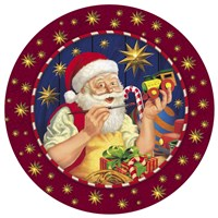 Santa Painter Fine Art Print